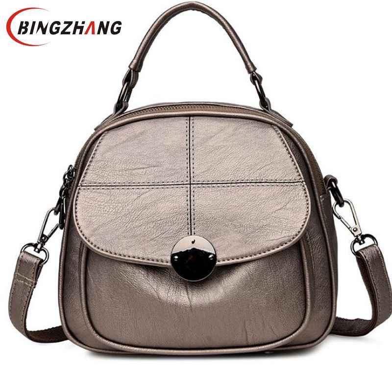ccd481f6ff98 2018 новые модные брендовые женские рюкзаки женский рюкзак высокого  качества кожаный школьный рюкзак элегантный Mochilas Escolar
