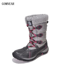 GOMNEAR New Arrival Women's Waterproof Warm Snow Boots Outdoor Trekking Hiking Shoes Antiskid Trend Leisure Tourism Sport Shoes