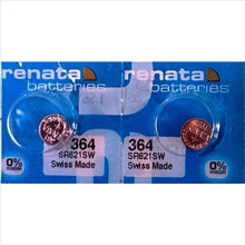 2 Xrenata Silver Oxide Watch Battery 364 SR621SW 621 1.55V 100% original brand renata 364 renata 621 battery