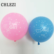 20Pcs 12 Inch it's a boy and it's a girl latex balloons Happy Birthday Party Decoration baby balloon Blue Pink Colors can choose(China)
