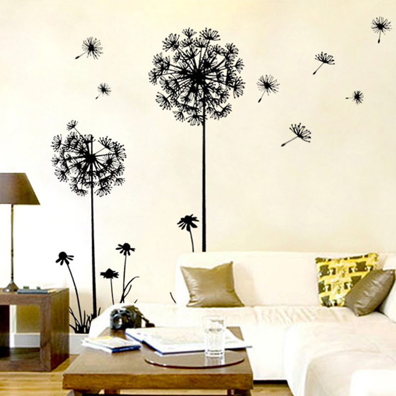 Flower Stickers Romantic Scenery Dandelion Bedroom...