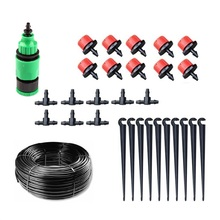 New Easy Operation Home Garden Mini Watering Sprinklers Kits Flower Pot Micro Drip Irrigation System Balcony Watering Kit(China)