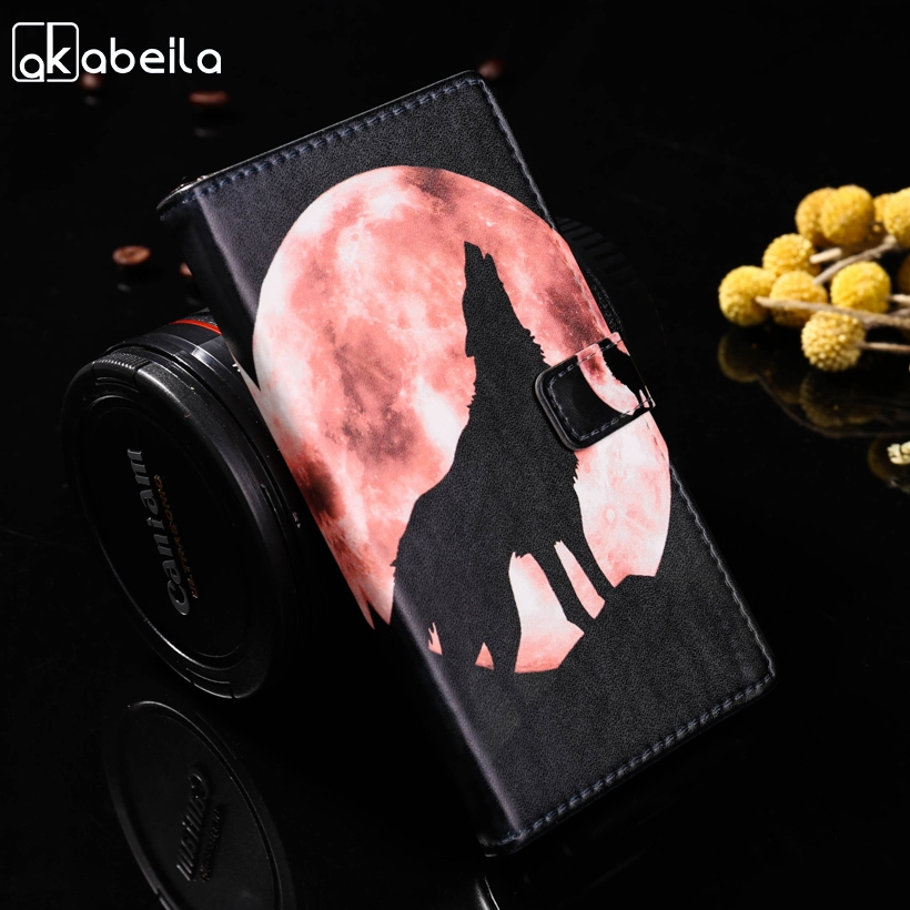 AKABEILA Z5mini Painted Cellphone Cases Sony Xperia Z5 Compact Z5 Mini E5803 E5823 S50 Covers Card Holder Hosuing Shell