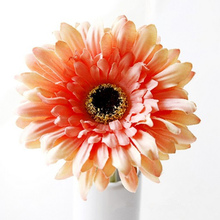 10Pcs Heads Artificial Gerbera Daisy Flowers Bouquet for Wedding Party Home Decoration 2017(China)
