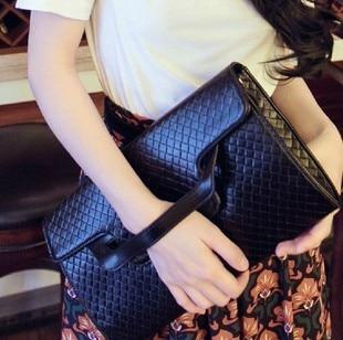 Fashion Women 2015 PU Leather Handbag Womens black Day envelope clutch female evening clutch bags Shoulder Bag for ipad<br><br>Aliexpress
