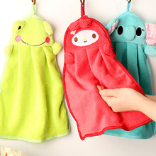 5 Styles Cartoon Nursery Hand Towel Soft Plush Fabric Cartoon Animal Hanging Wipe Bathing Towel Bathroom Accessories Towel
