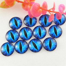 20pcs/lot 20mm Dragon Eyes Round Glass Cabochon 18colors Jewelry Findings Necklace Accessories Pendant Cameo Setting GR-236-20(China)