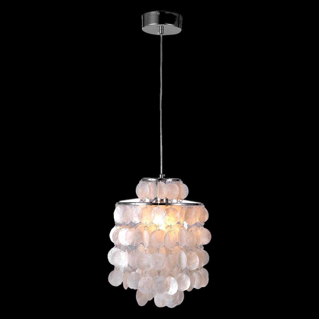Crystal Hi5 Pendant White Shell Lamp Lamp Hallway Fixture<br><br>Aliexpress