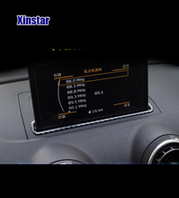 Real carbon fiber Sline Automotive navigation system car interior decoration for audi A3