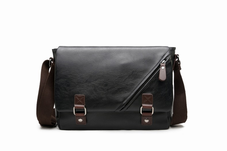 MJ Men\`s Bags Vintage PU Leather Male Messenger Bag High Quality Leather Crossbody Flap Bag Versatile Shoulder Handbag for Men (5)