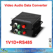 1 Pair 2 Pieces/lot 1 Channel Video Optical Converter fiber optic video optical transmitter & receiver 1CH +RS485 Data