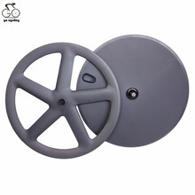 700C Carbon Wheels clincher 5 spoke Wheels front carbon disc wheels rear for Fixed Gear Bicycle Full carbon chinese wheels