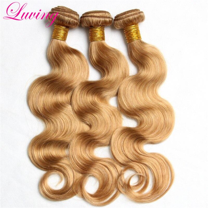 Rosa hair Products #27 Color Brazilian virgin Hair body wave  Honey Blonde human hair 3 bundles blonde Brazilian hair extensions<br><br>Aliexpress