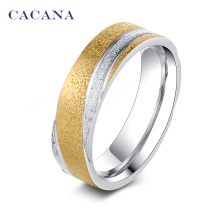 CACANA Stainless Steel Rings For Women Fashion Shining Sand On Jewelry Wholesale NO.R81(China)
