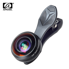 Apexel professional fisheye lens 238 degree super fish eye 0.2X full frame wide angle lens for iPhone Samsung Xiaomi HTC