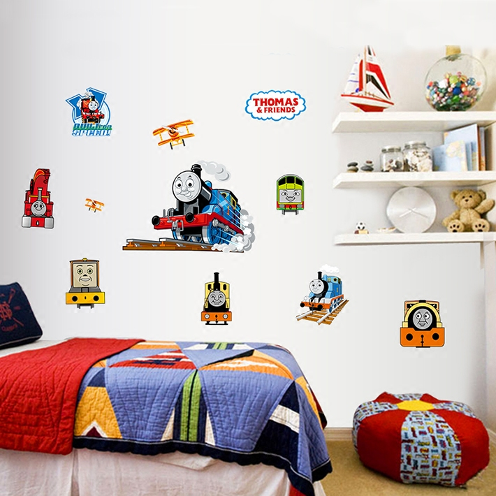 Thomas Train New Childrenu0027s Room Wall Stickers Wall Decoration Real Cartoon  Baby Room Decoration(China Part 65