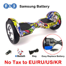 FLJ Hoverbaord 10 inch self balancing Scooter skateboard Bluetooth Gyro Adult Children Standing Electric Scooter Balance UL2272
