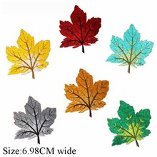 6.98cm wide different color Maple leaves embroidery patch  custom logo clothing/jersey patch/venise bordado