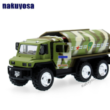 1:32 Diecast sound&light pull back Toy Car Military truck Missile Tanker Transport Vehicle Model Gift for kids