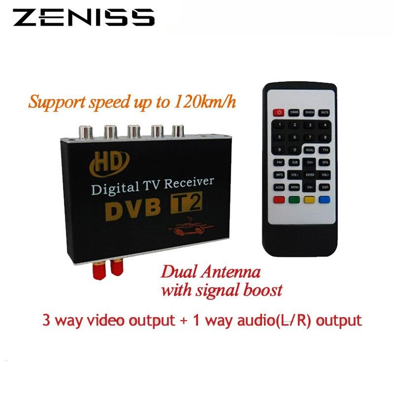 Free shipping car T2 receiver dual tuner DVBT2 for car dvd high speed mpeg4 Car digital TV Box Tuner Auto Mobile DVB-T2 Receiver<br><br>Aliexpress