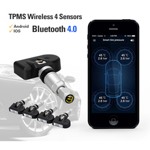 NEW BLE TPMS Bluetooth 4.0 Low Energy Tire Pressure Monitoring System 4 Internal/External Sensor APP Display Android iOS