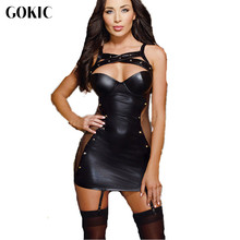 GOKIC 2017 Brand Hot New design sexy lingerie fashion baby doll Underwear Nigthwear new leather erotic lingerie 3XL