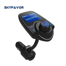 Factory price lcd display hands Free mp3 player usb car charger car radio bluetooth fm transmitter for iPhone Samsung  Xiaomi
