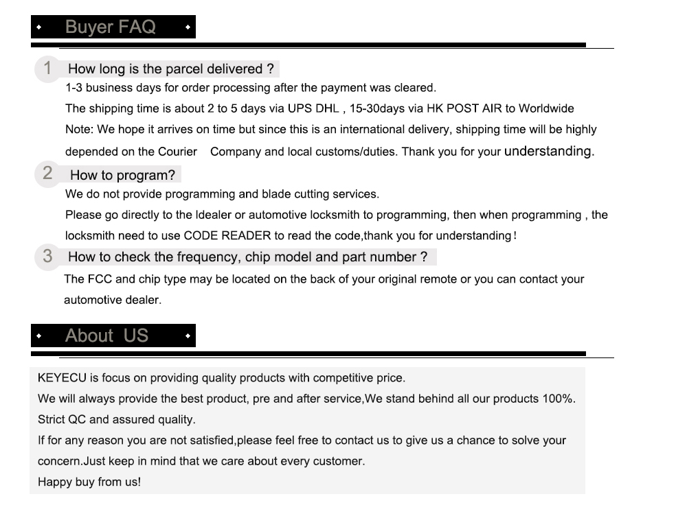 ABOUT US AND BUYER