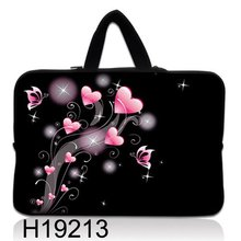 "New Hot 17""17.3"" Pink Heart Shape Laptop Cover Case Netbook Sleeve W Hidden Handle For HP Lenovo Acer(China)"