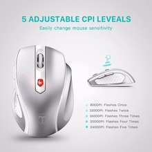VicTsing 2.4G Wireless Portable Mobile Mouse Optical Mice with USB Receiver 5 Adjustable DPI Level 6 Buttons for Notebook PC(China)