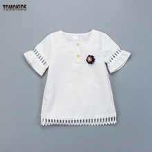 TomoKids Girls' shirts children's blouses baby clothes wholesale