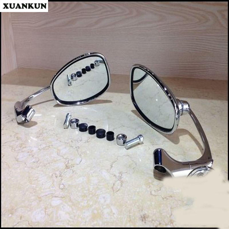 XUANKUN Retro Cafe Racer Motorcycle Side Hanging Rearview Mirror Reverse Mirror<br>