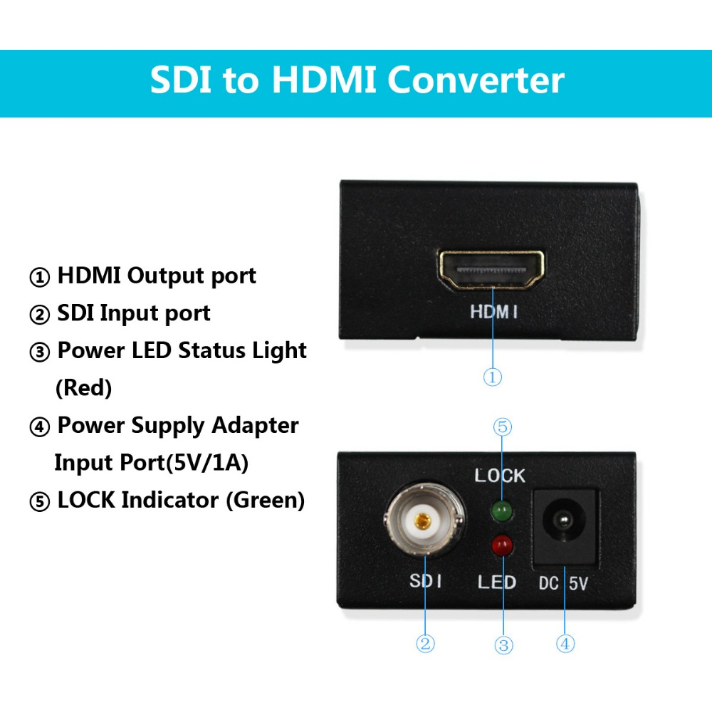 HD-SDI 3G-SDI to HDMI video audio converter adapter WS-Z21