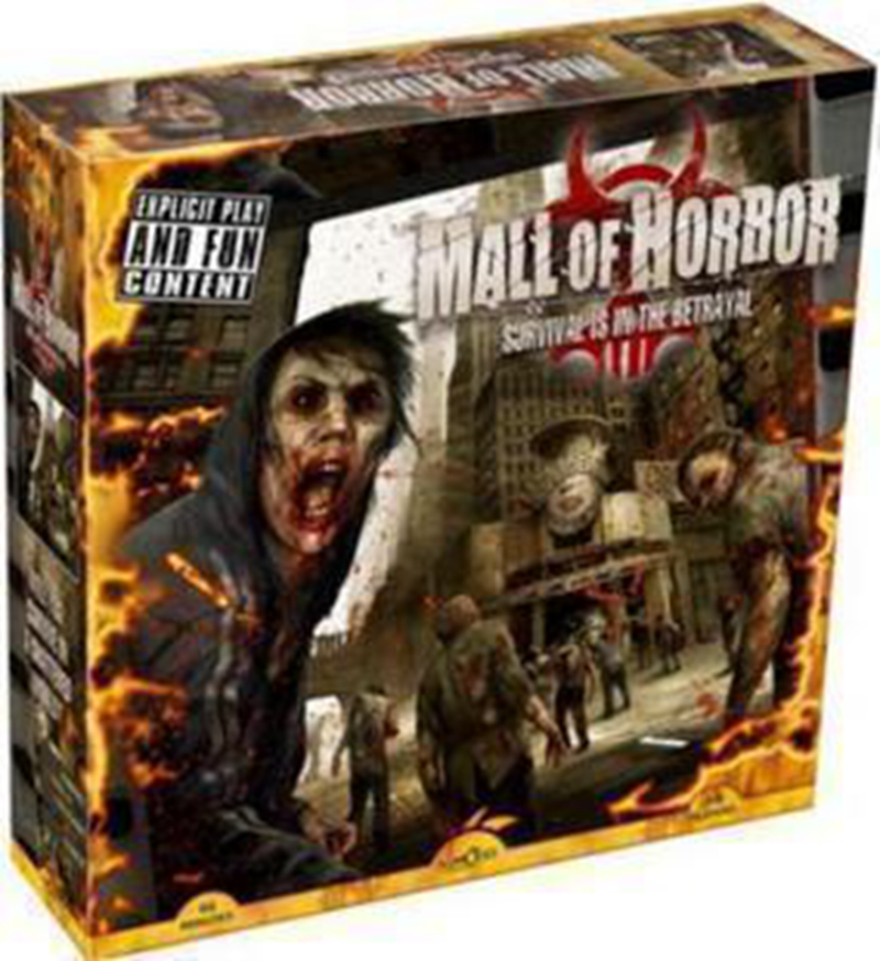 Mall of Horror Board Game High Quality 3-6 Players Zombies Survival Model Game party family indoor games<br><br>Aliexpress