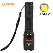 LED Rechargeable Flashlight CREE XM-L2 U2 light 3800 lumens 18650 Battery Outdoor Camping Cycling Powerful led flashlight