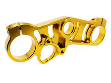 FXCNC Gold Color Motorcycle  Lowering Triple Tree Front End Upper Top Clamp  Fit For Suzuki GSXR 1000 2007 2008