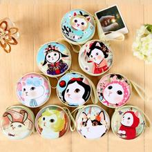 10 Styles Beautiful Cute Cat Mini Storage Box/Earphone bag for Key/Coin/Finger Spinner Fidget Toy Box Bag Case Kids Gift
