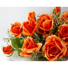 "Full Drill Square Diamond 5D DIY Diamond Painting""Orange roses""Diamond Embroidery Cross Stitch Rhinestone Mosaic Painting"