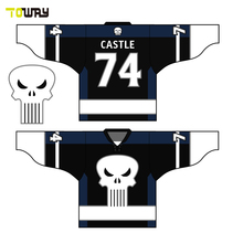 sublimated design custom hockey jersey(China)