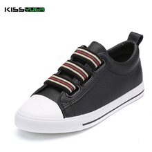 KISSyuer White Black Canvas Sport Shoes Elastic Band Women Breathable Female Flats Shoes Casual Candy Color Leisure Shoes KSE160