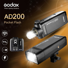 Godox AD200 200Ws GN60 HSS Flash Strobe Built-in 2.4G Wireless X System to Achieve TTL and X1 Transmitter for C/N/S/F/O