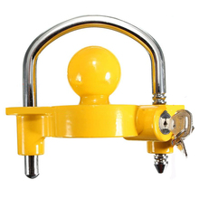 Universal Caravan Trailer Hitch Tow Steel 50mm Ball Lock COUPLING Safe Security lock yachts RV ATV UTV trailer accessories