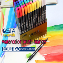 12/24/36/48/80 STA Markers Touch Graphic Drawing Sketch Art Marker Manga Water Based Pigment Ink Twin Marker Pen Aquarelle Brush