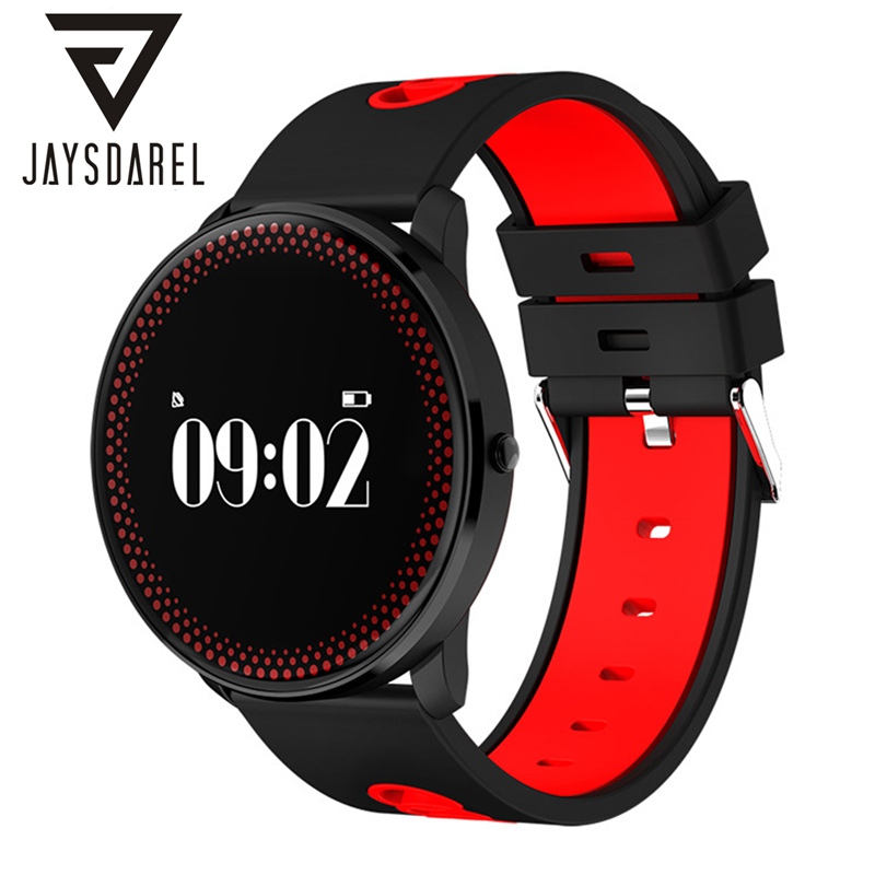 JAYSDAREL CF007 Heart Rate Blood Pressure Blood Oxygen Monitor Smart Watch Fitness Tracker Pedometer Bluetooth Smartwatch Phone<br>
