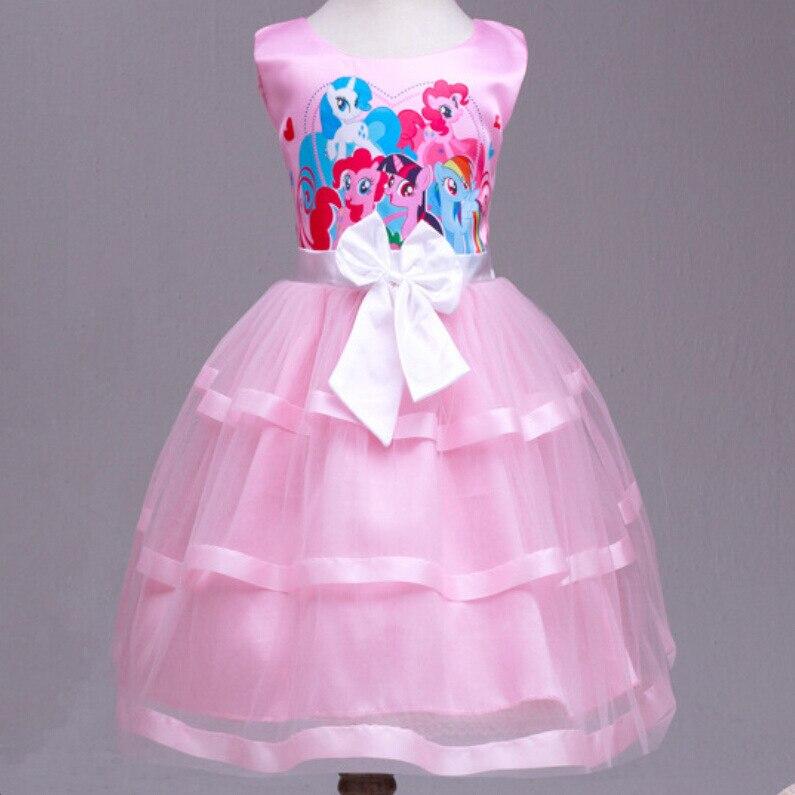 My Little Pony Clothes Girls Sundress Dresses Summer 2016 Girl Princess Maxi Dress Party Bow Kids Formal Dress Birthday Costume<br><br>Aliexpress