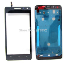 New front housing cover framer Touch Screen glass for Huawei U8950 U8950D Black(China)