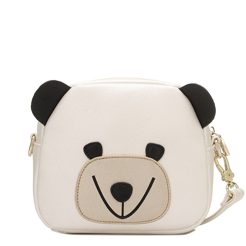 Fashion Women Messenger Bags Mini Shoulder Bag High Quality Soft Pu Leather Crossbody Bag Women Printing Bear Bag SS0157<br>