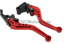 Red One Pair CNC Shorty Brake Clutch Levers Handles For Kawasaki ZZR 600 05 06 07 08 Motorcycle
