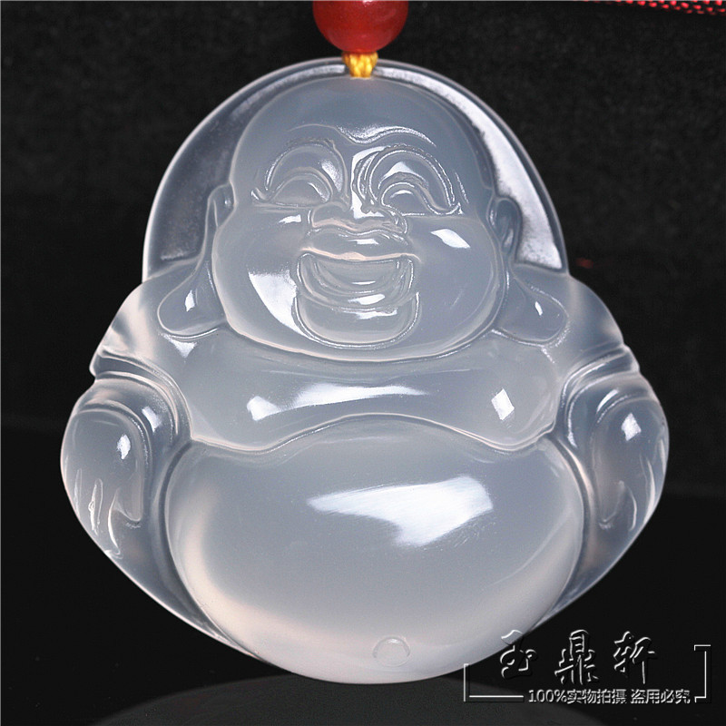 Need for natural ice kinds of chalcedony Maitreya Buddha pendant chalcedony natural genuine pendant with a certificate of public