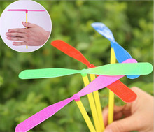 1PCS Plastic Dragonfly Assortment Mini Whirl A Copter Helicopter Birthday Pinata Fillers Kids Party Toy Favor Bag(China)